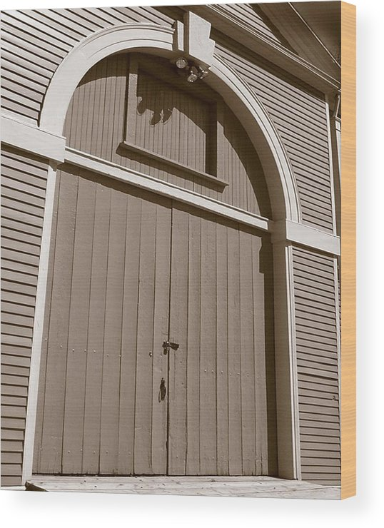 Waltham Wood Print featuring the photograph Gore Barn Door by Heather Weikel