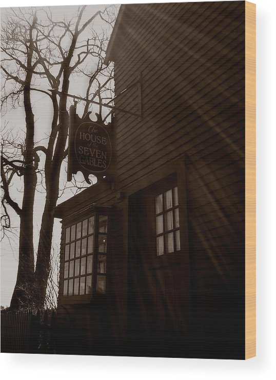 Salem Wood Print featuring the photograph House Of Seven Gables by Heather Weikel