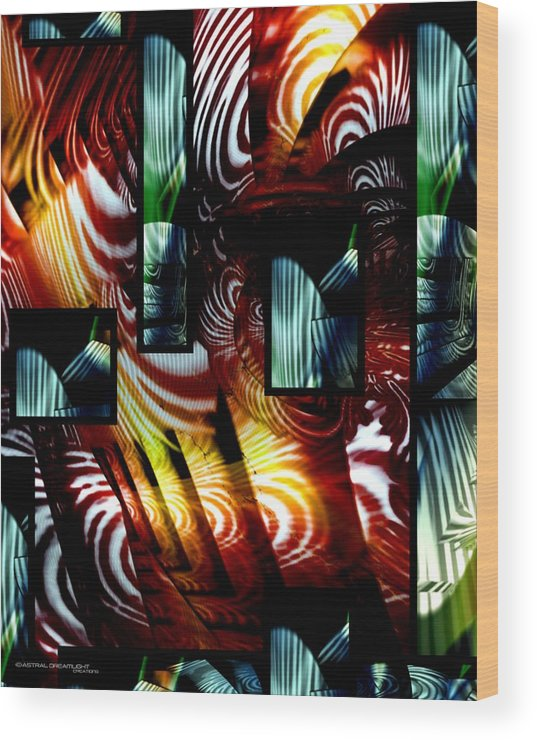 Abstract Wood Print featuring the painting Intrigue by Dreamlight Creations