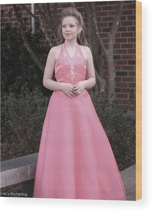 Wood Print featuring the photograph Jodi B - 4 by Lisa Johnston