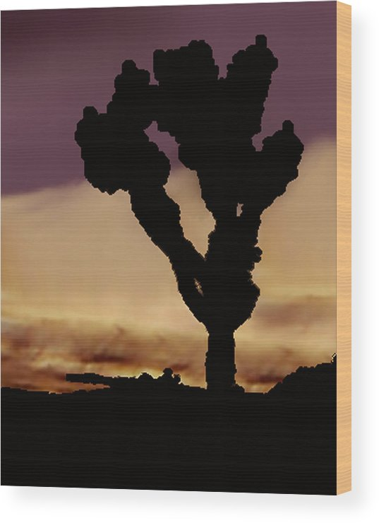Wood Print featuring the photograph Joshua Tree Silo At Sunset by Curtis J Neeley Jr