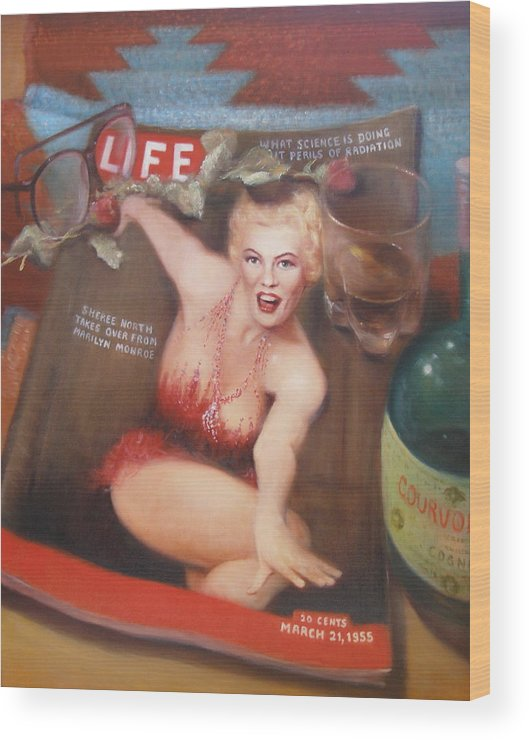 Realism Wood Print featuring the painting Life In The Fifties by Donelli DiMaria