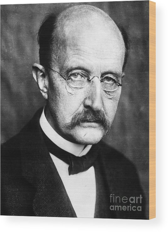 1929 Wood Print featuring the photograph Max Planck by Granger