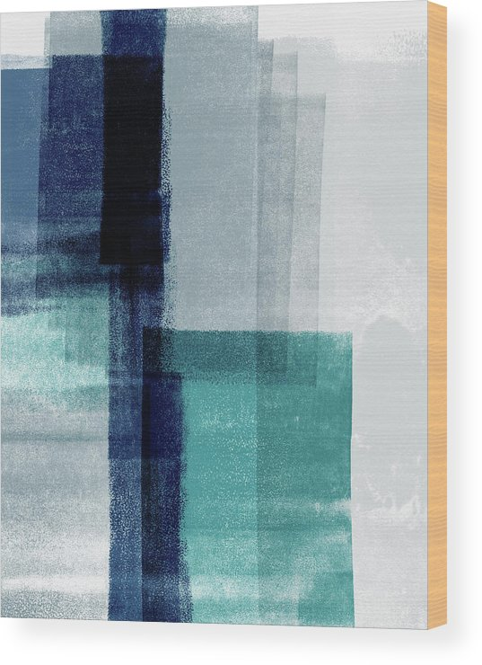 Abstract Wood Print featuring the mixed media Mestro 5- Art By Linda Woods by Linda Woods