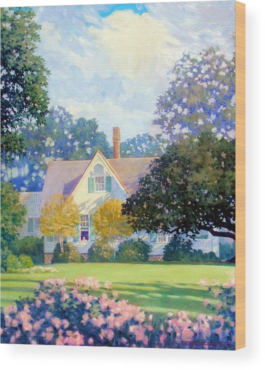 House Wood Print featuring the painting My Fathers House by Kevin Lawrence Leveque