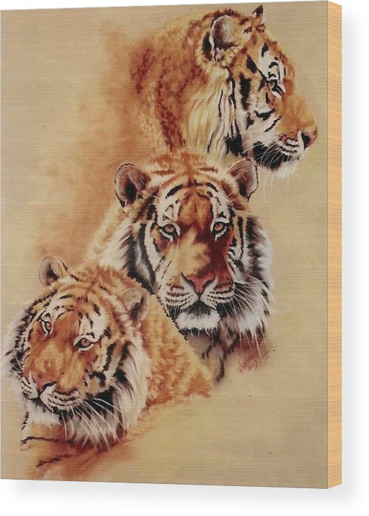 Tiger Wood Print featuring the pastel Nanook by Barbara Keith