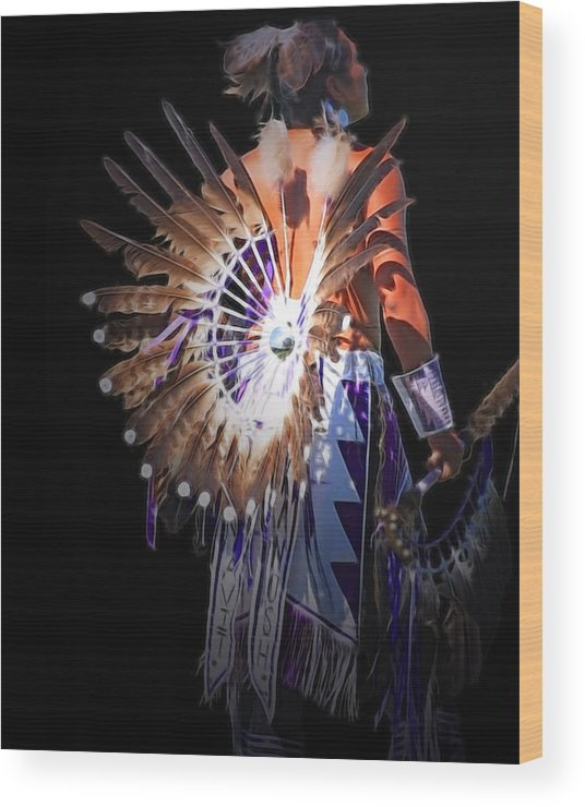 Native Wood Print featuring the photograph Native Spirit by Gene Praag