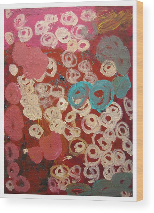 Abstract Wood Print featuring the mixed media Natural Formation by Kim Putney