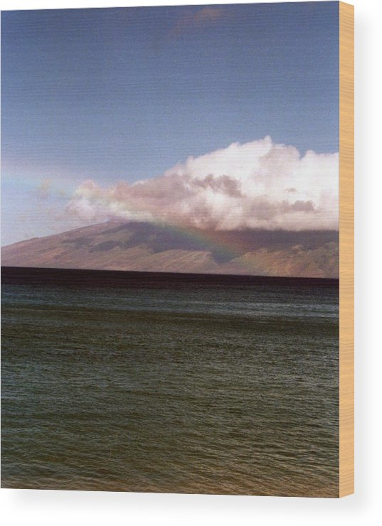 Rainbow Wood Print featuring the photograph Over The Rainbow by Jennifer Ott