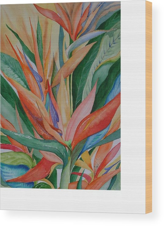 Florida Wood Print featuring the painting Paradise Memories by Rebecca Marona