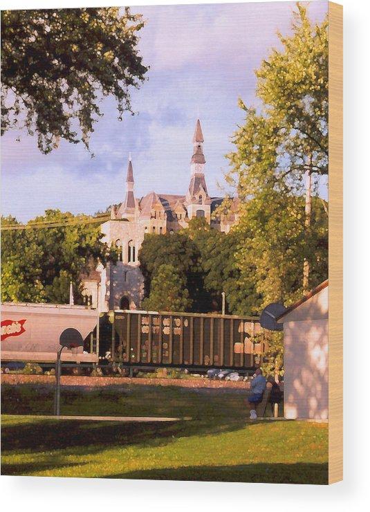 Landscape Wood Print featuring the photograph Park University by Steve Karol