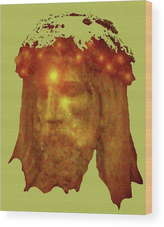 Catholic Spirituality Wood Print featuring the mixed media Passion No. 01 by Ramon Labusch
