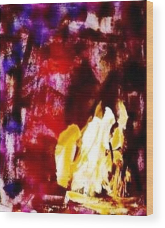 Abstract Wood Print featuring the painting Patriot Act I by Bruce Combs - REACH BEYOND