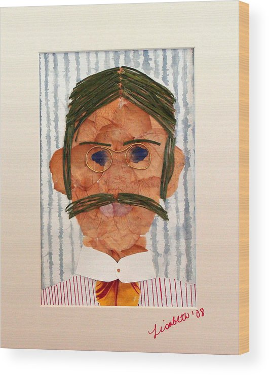 Man Wood Print featuring the mixed media Phinneas by Lisabeth Billingsley