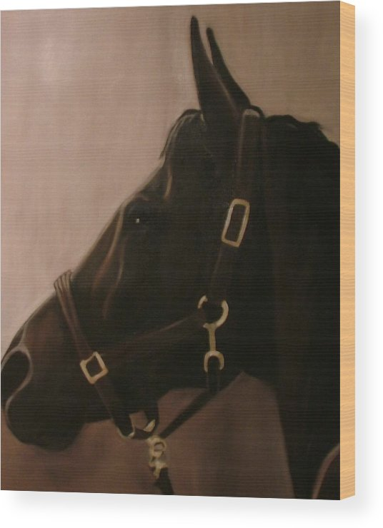 Horse Wood Print featuring the painting Pocketchange by Donna Thomas