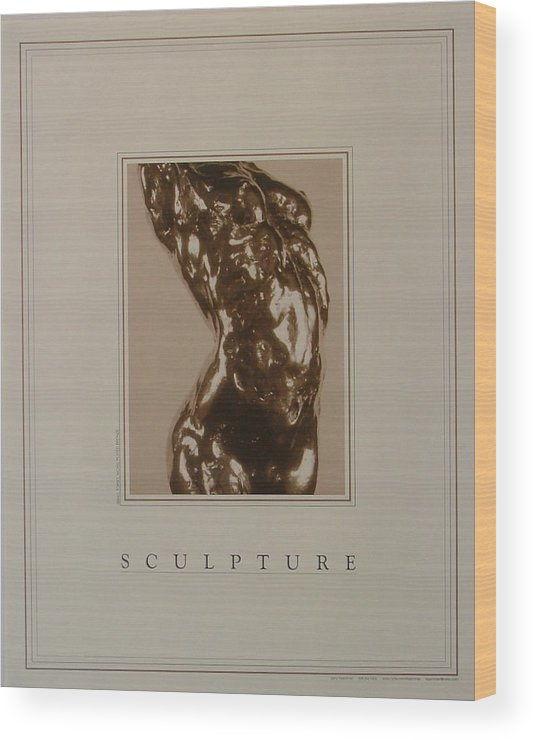 Female Nude Wood Print featuring the painting Print Of Sculpture By The Artist by Gary Kaemmer