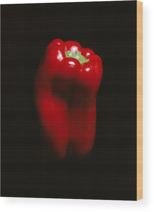 Pepper Wood Print featuring the photograph Red Pepper by Jessica Wakefield