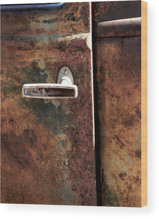 Car Wood Print featuring the photograph Rustic by Bryan Steffy