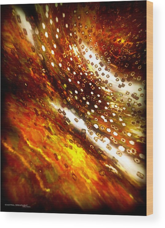 Abstract Wood Print featuring the painting Rustic by Dreamlight Creations