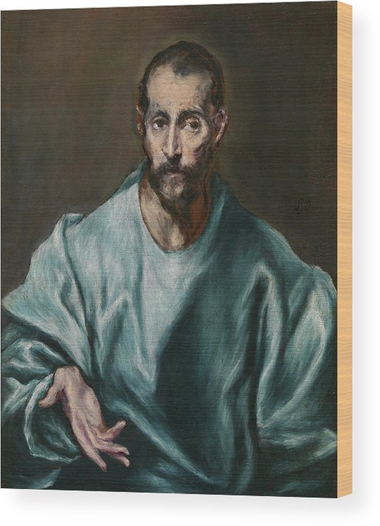 Catholic Wood Print featuring the painting Saint James The Elder by El Greco