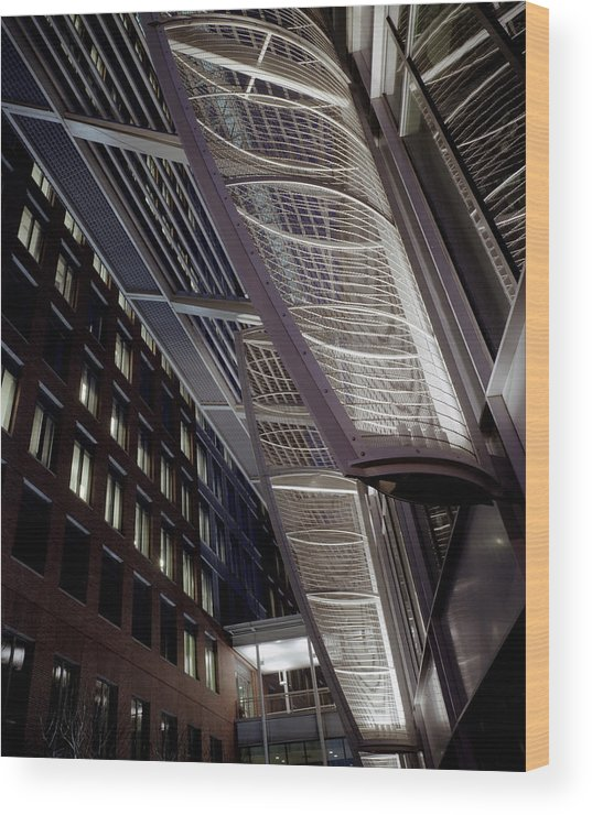 Architecture Wood Print featuring the photograph Seaport2 by Robert Ruscansky
