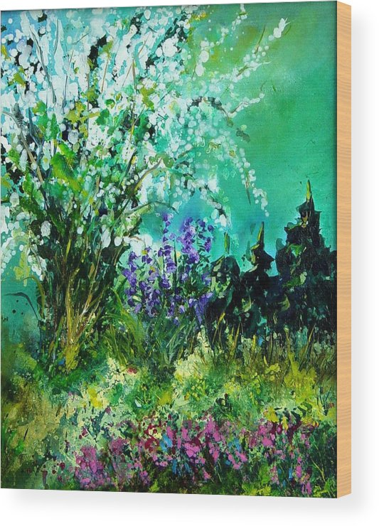 Tree Wood Print featuring the painting Seringa by Pol Ledent