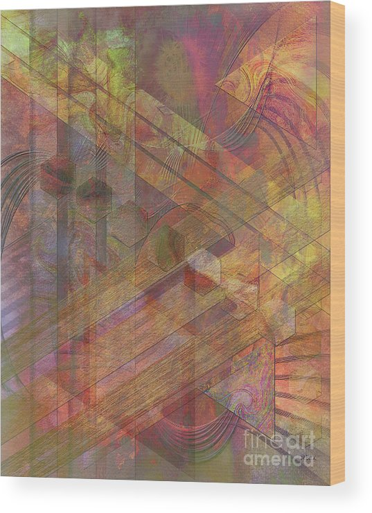 Soft Fantasia Wood Print featuring the digital art Soft Fantasia by John Beck