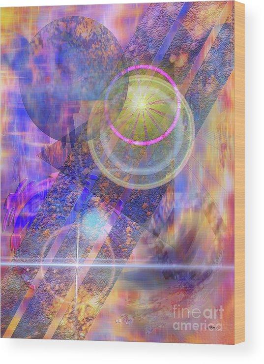 Solar Progression Wood Print featuring the digital art Solar Progression by John Beck