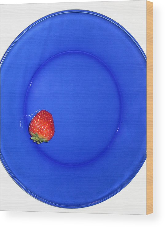 Strawberry Wood Print featuring the photograph Strawberry by Jessica Wakefield