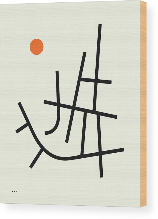 Minimal Art Wood Print featuring the digital art Streets 5 by Jazzberry Blue