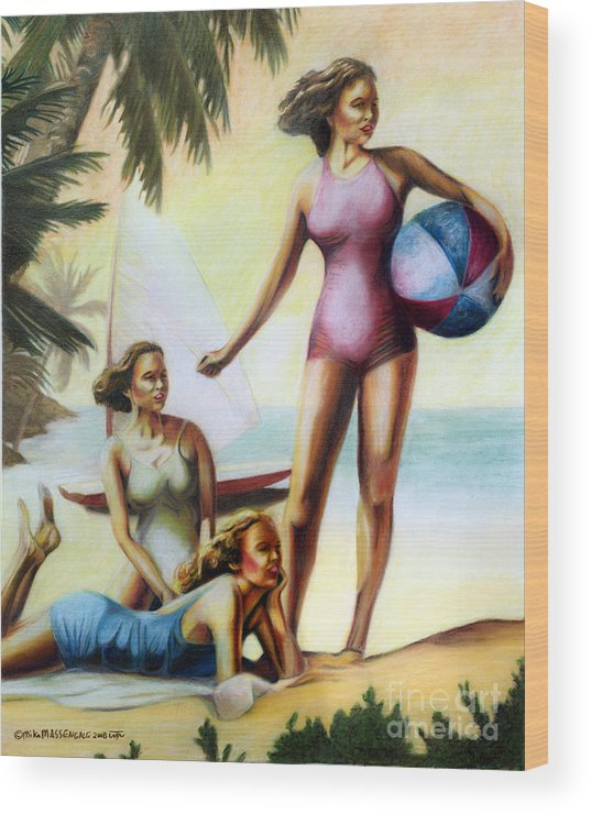 Tropical Art Wood Print featuring the painting Summer Holiday by Mike Massengale