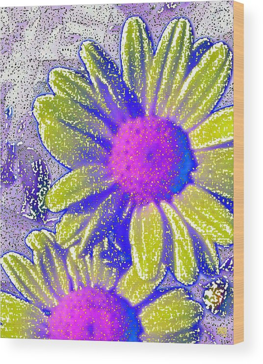 Flowers Wood Print featuring the digital art Sunshine by Michele Caporaso