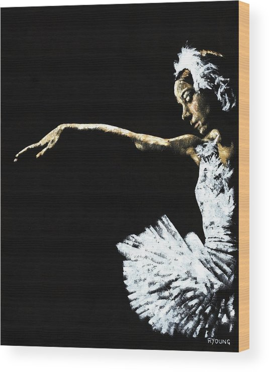 Ballet Wood Print featuring the painting The Art Of Grace by Richard Young
