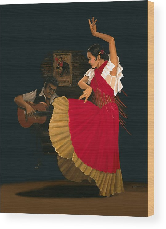 Figure Painting Wood Print featuring the painting The Dance Of Passion by Brooke Lyman