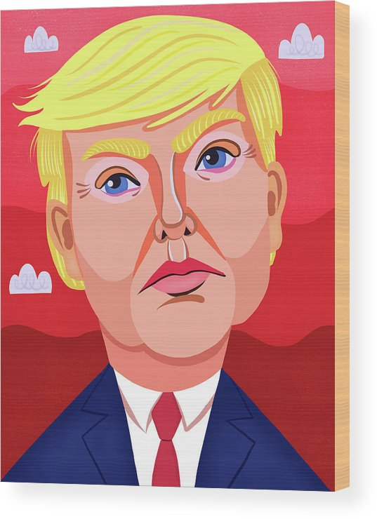 The Great Dictator Wood Print featuring the digital art The Great Dictator by Nicole Wilson
