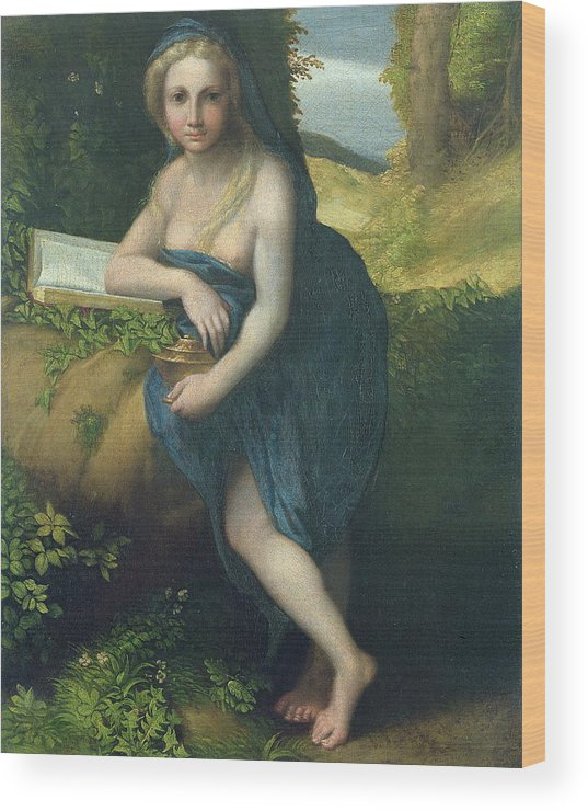 Saint Wood Print featuring the painting The Magdalene by Correggio