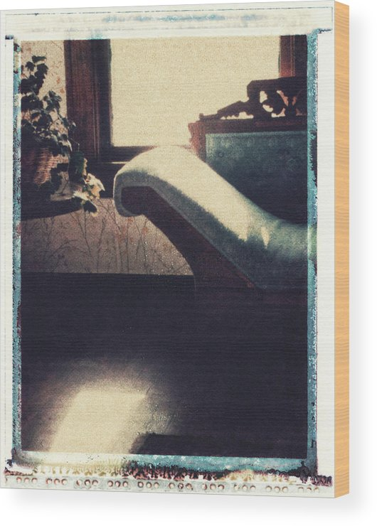 Polaroid Transfer Wood Print featuring the photograph Through The Window by Bernice Williams