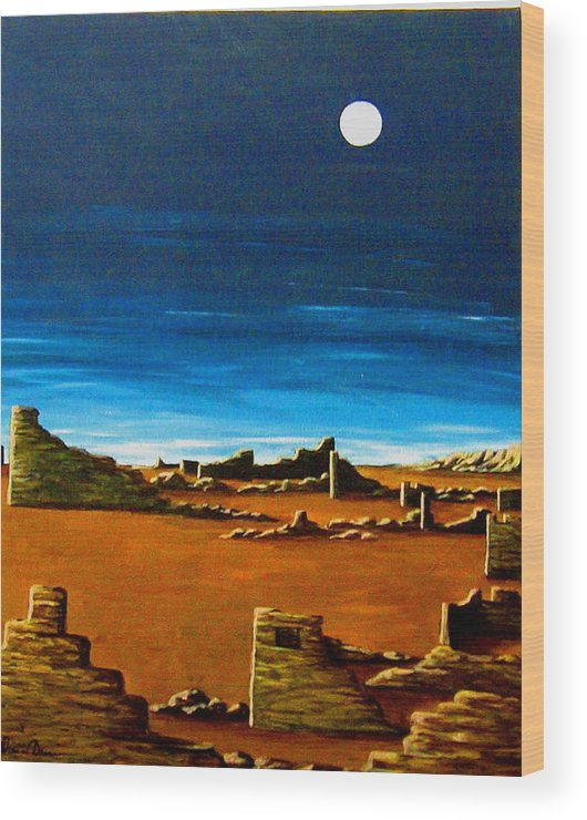 Anasazi Wood Print featuring the painting Timeless by Diana Dearen