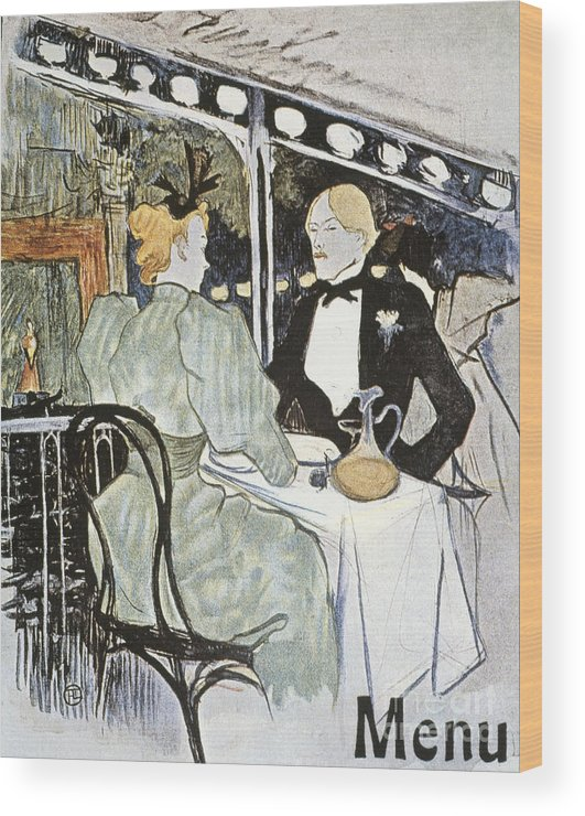 19th Century Wood Print featuring the photograph Toulouse-lautrec: Menu by Granger