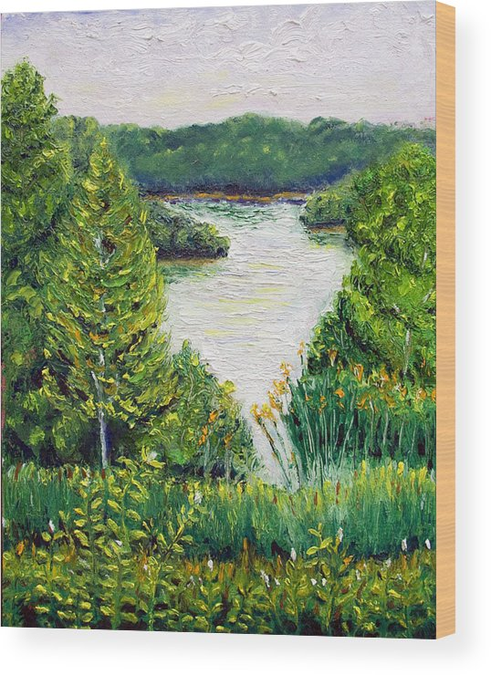 Lake Wood Print featuring the painting Tributary Salt Fork Lake Ohio by Robert Sako