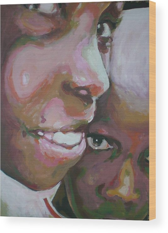 Africa Wood Print featuring the painting Two Boys by Aleksandra Buha