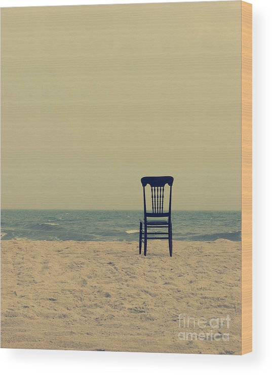 Ocean Wood Print featuring the photograph Until Tomorrow And Tomorrow And Tomorrow by Dana DiPasquale