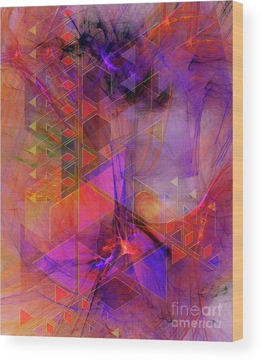Vibrant Echoes Wood Print featuring the digital art Vibrant Echoes by John Beck
