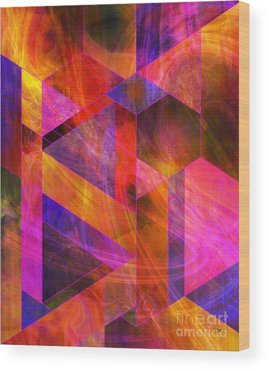 Wild Fire Wood Print featuring the digital art Wild Fire by John Beck