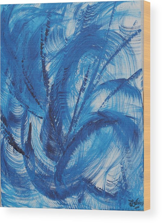 Wind Wood Print featuring the painting Wind by Sandra Winiasz
