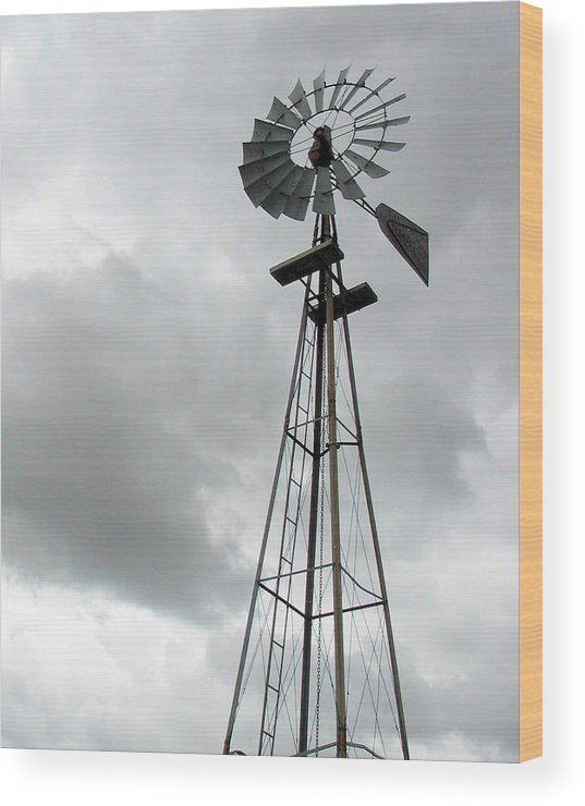 Windmill Wood Print featuring the photograph Windmill by Margaret Fortunato