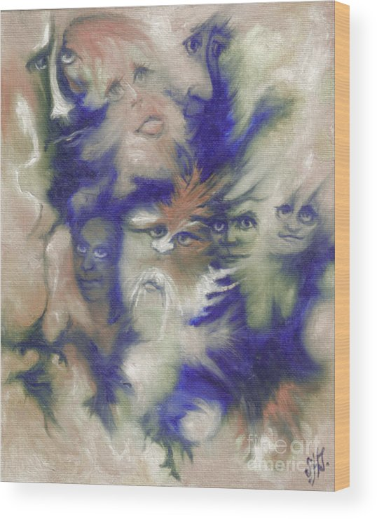 Mystical Wood Print featuring the painting Wizard's Dream by Stephanie H Johnson