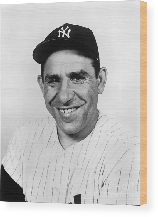 People Wood Print featuring the photograph New York Yankees 1 by National Baseball Hall Of Fame Library