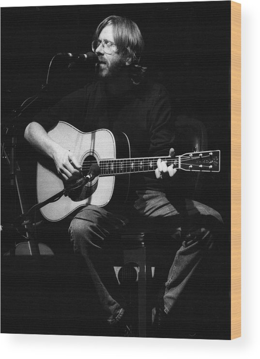 Music Wood Print featuring the photograph Photo Of Phish & Trey Anastasio by Larry Hulst