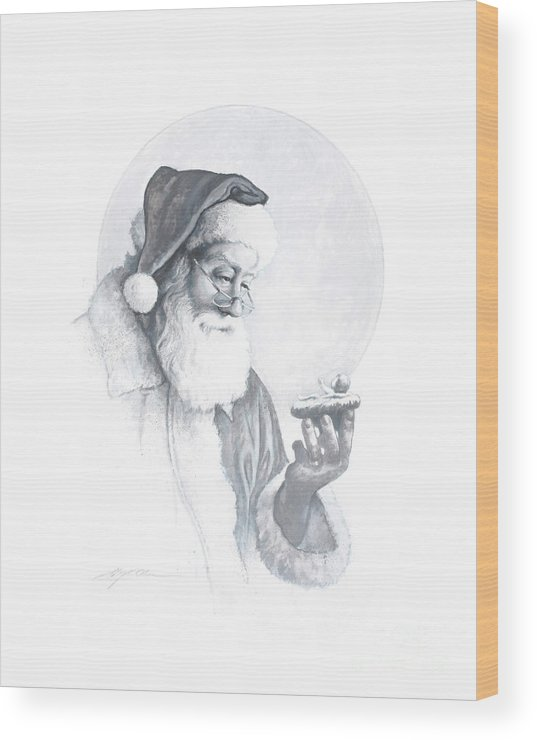 Santa Claus Wood Print featuring the painting The Spirit Of Christmas Vignette by Greg Olsen